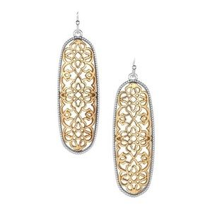 NWT Gold Lace Earrings